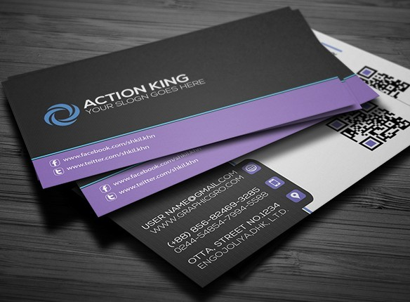 Free black violet creative business card template psd titanui black violet creative business card template psd flashek Image collections
