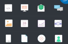 12 Nice Flat Icons Vector PSD