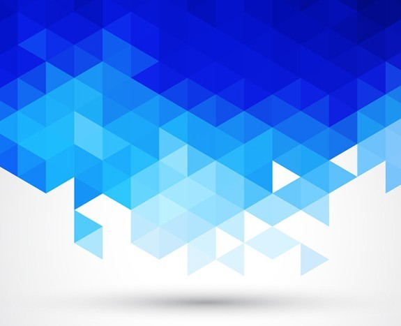 Free Blue Abstract Triangles Background Vector - TitanUI