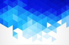 Blue Abstract Triangles Background Vector