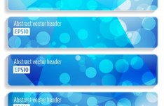 Blue Halos Vector Banner & Header Templates