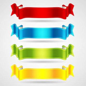 Glossy Ribbon Vector Set 01