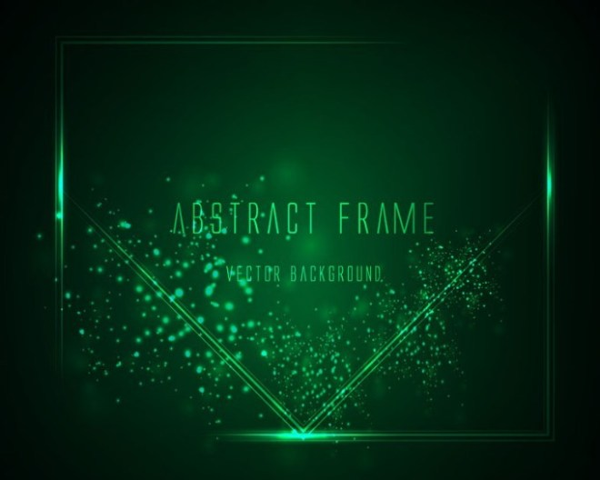 Abstract Green Frame Background Vector