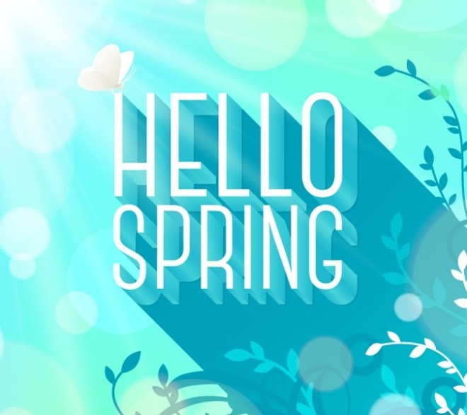 Happy Spring Vector Background