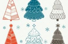 Simple Christmas Tree Design Vector