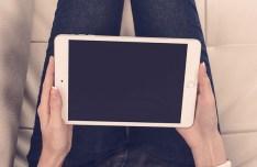 iPad Mini 3 White Mockup