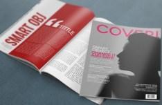 4K Realistic Magazine Mockup PSD