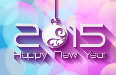 Happy New Year 2015 Vector Background