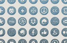 40 Hand-drawn Social Icons