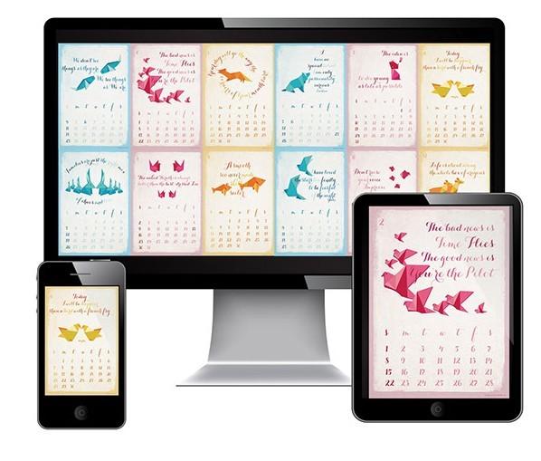Graphic Design Calendar Templates : Free monthly calendar template psd titanui