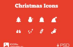 8 Minimal Christmas Icons PSD