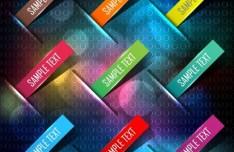 Colorful Corner Label Set Vector