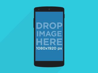 Illustrated Nexus 5 Mockup PSD