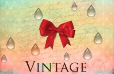Vintage Red Bow Background Vector