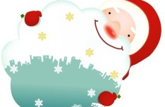 Cute Cartoon Santa Claus Vector 03