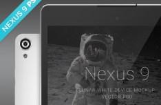 Nexus 9 Lunar White Mockup PSD