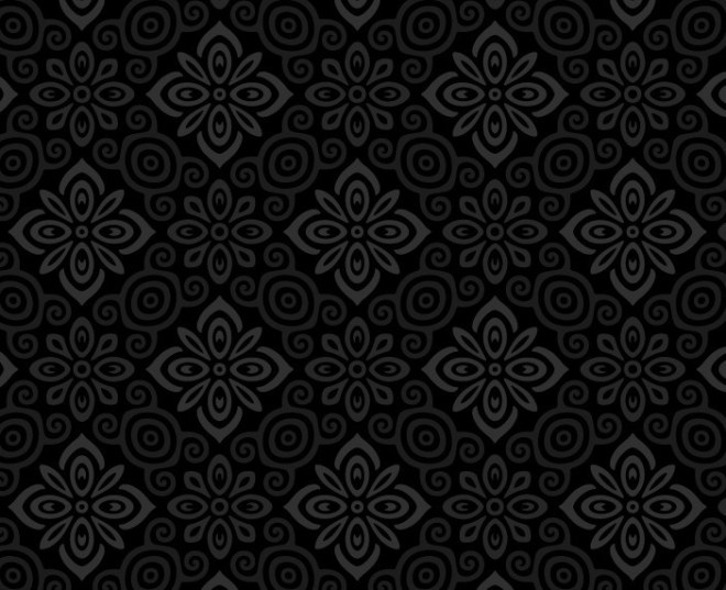 Seamless Dark Floral Pattern Vector