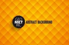 Orange Gradient Abstract Geometric Background Vector