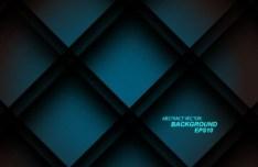 3D Blue Block Background Vector