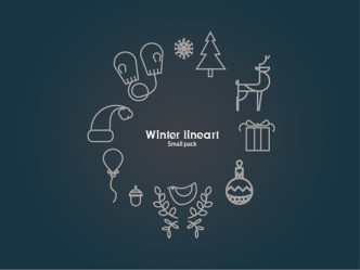 Small Winter Line Icons Pack
