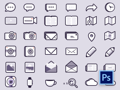 48 Pixel perfect Social & Mobile icons PSD