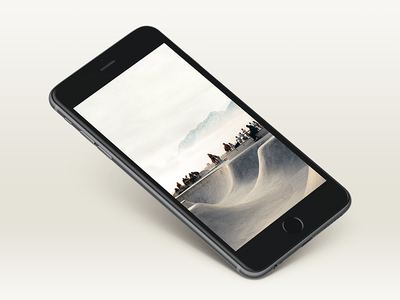 Black iPhone 6 Plus Mockup PSD