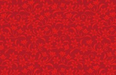 Red Flower Pattern Background Vector