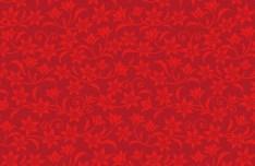 Red Flower Pattern Background Vector