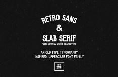 Retro Font Family