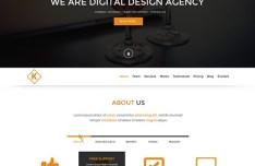 Kharis - Onepage Webs Template PSD