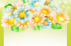 Shining Sunflowers Background Vector
