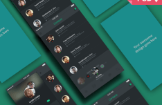 App Screens Perspective Mockup PSD