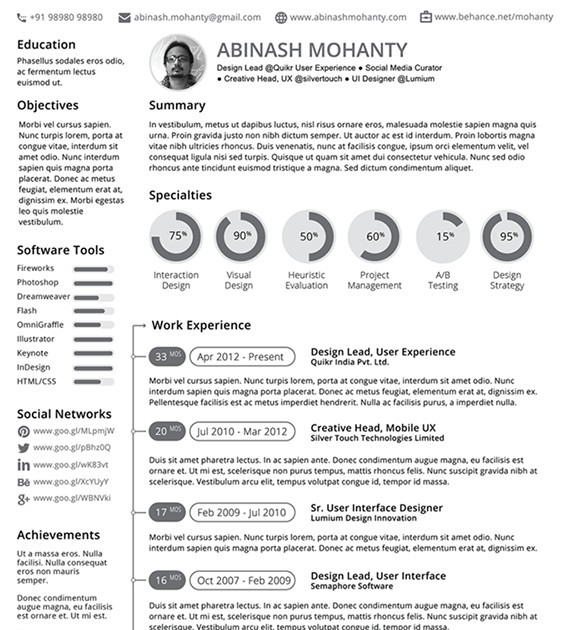 Free minimal resumecv template vector titanui minimal resume cv template vector yelopaper Image collections