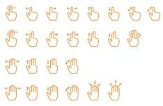 Handy Gestures Vector