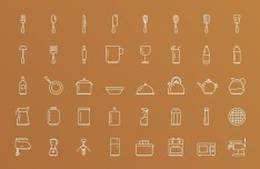 Kitchen Tools Icons PSD