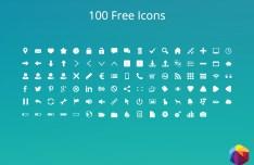 100 Minimal Icons PSD