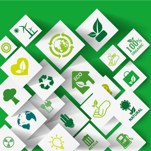 Green ECO Concept Icons  Vector