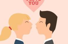 Lovers I love You Vector Illustration 01