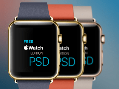 Apple Watch Edition Templates PSD