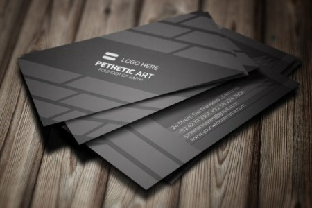 Free Creative Black Business Card Template PSD   TitanUI Creative Black Business Card Template PSD