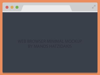 Minimal Flat Web Browser Mockup PSD