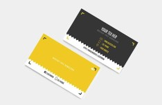Black & Yellow Vector Business Card Template