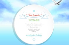 Summer Voyage Background Vector
