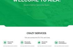 AILA Simple Flat Web Template PSD
