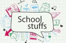 Hand Drawn School Stuffs Vector