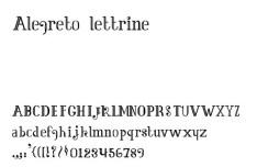 alegreto lettrine Font