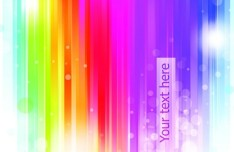 Rainbow Bubbles Background Vector 02