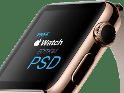 Apple Watch Edition Template PSD