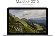 MacBook 2015 Mockup PSD