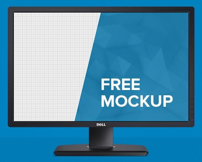 Free Dell Monitor Mockup Psd Titanui